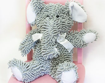Nubby Chenille Gray Elephant *REDUCED PRICE+++*