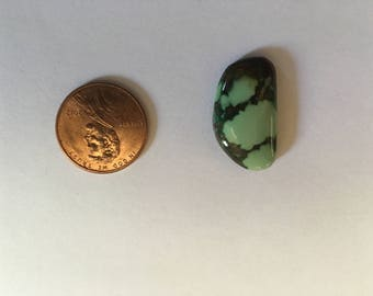 4 Natural Royston Turquoise Cabochons REDUCED