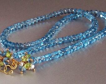 18k London Blue Topaz Necklace