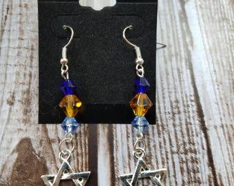 Chanukah Star of David Earrings, Hanukkah