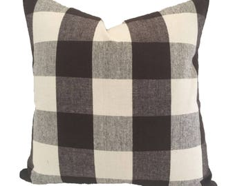Decorative Pillow Cover in Buffalo Plaid Check Fabric