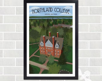 Vintage-Inspired Northland College Poster