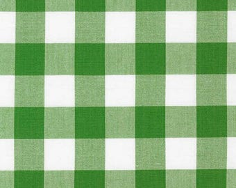 1 Inch Plaid - Carolina Gingham in Kelly Green by Robert Kaufman - 1 yard increments