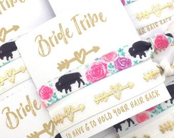 Boho Bachelorette | Buffalo Bison Bachelorette Party Favors | Bridesmaid Gift | Buffalo Party Favors | Bachelorette Hair Ties | 716