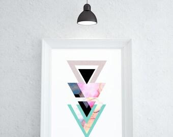 Art Wall Art Geometric Print Poster Geometric Wall Art Geomtric Poster Wall Art Prints