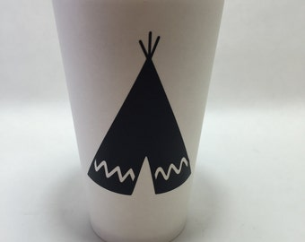 Chic Teepee tee pee native wilderness BE BRAVE peter pan chalkboard labels decals birthday party baby shower aztec tribal pow wow decoration