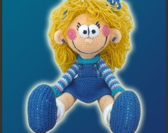 Amigurumi Pattern Crochet Polly Doll DIY Instant Digital Download PDF