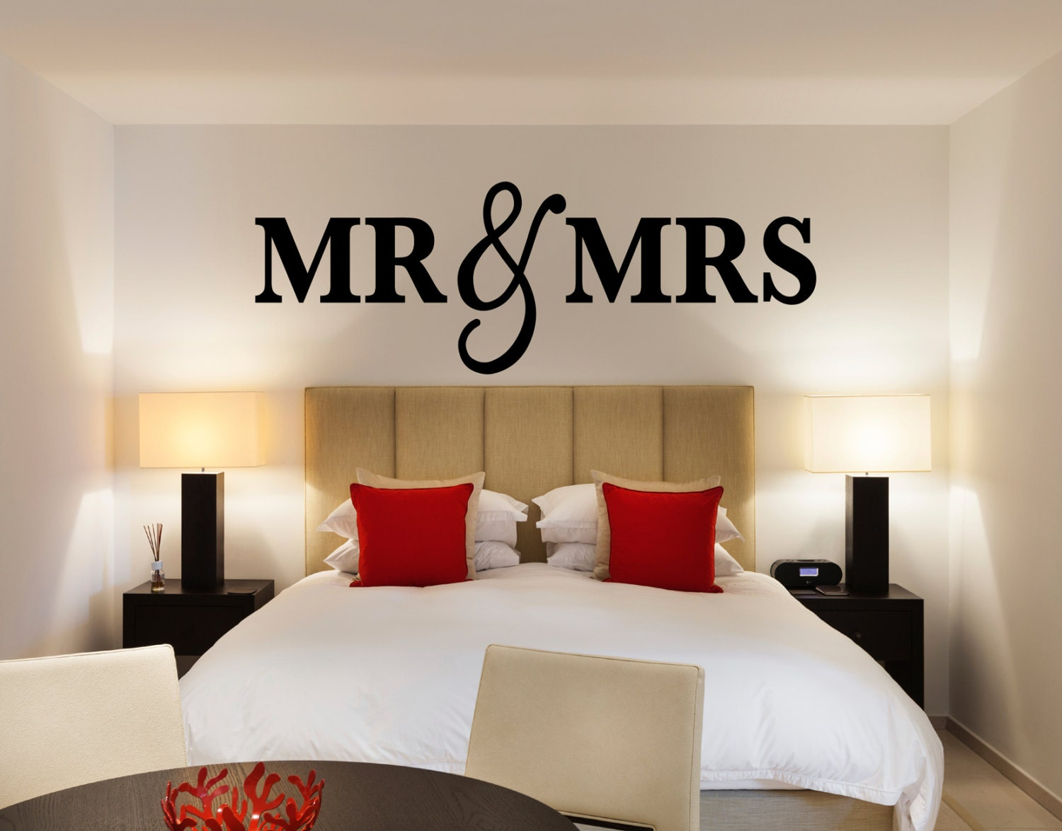 bedroom signs.  zoom Mr Mrs Wall Sign for Bedroom Decor and