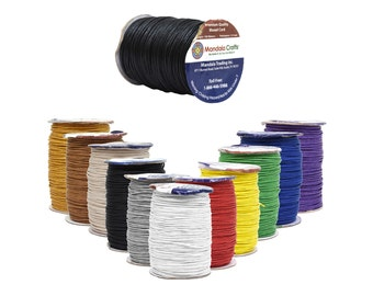 Mandala Crafts Waxed Cord, Beading Cord, 1.5mm, 100 Meters, 109 Yards, Different Color Selections