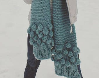 Extra long scarf, Knitted scarf, Cozy scarf, Long knit scarf, Oversized scarf, blanket scarf
