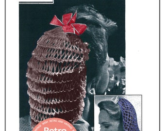 1940s Snoods Vintage Knitting & Crochet Pattern - PDF  Instant Download