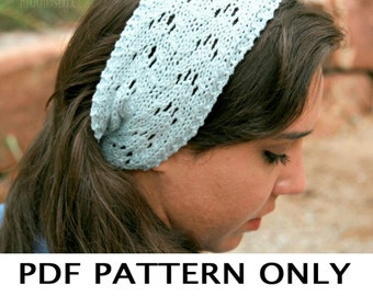 Knitting Pattern - Lace Headband Pattern - the JAYNE Headband Cowl Combo (Toddler, Child, Adult sizes)