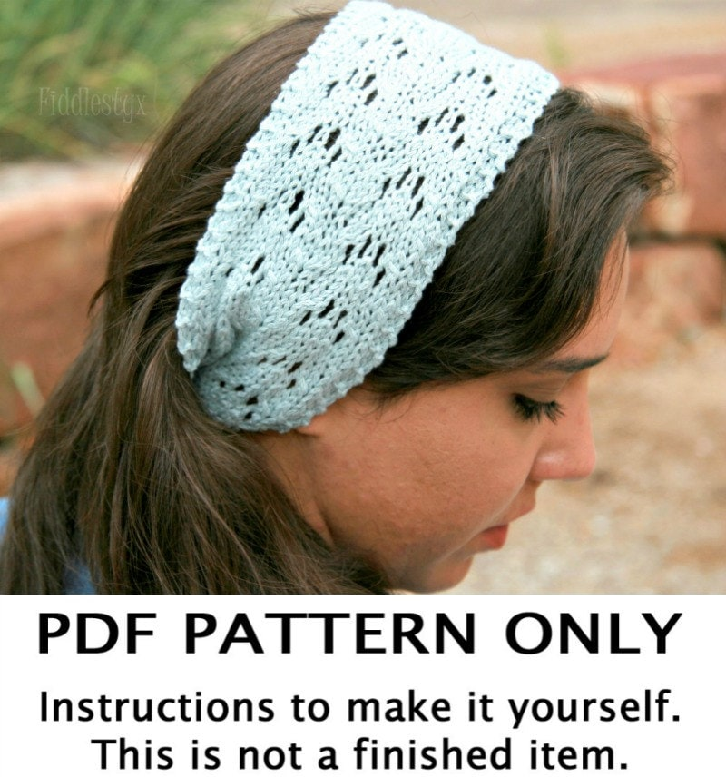 Magnificent Knitted Lace Headband Pattern Pattern Blanket Knitting