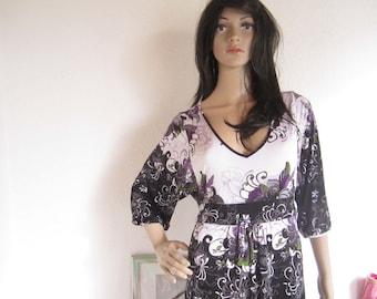 Vintage gown dress flower Anastacia summer S robe