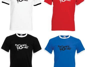 Chemical Romance Adult Ringer T-Shirt - All Sizes & Colours