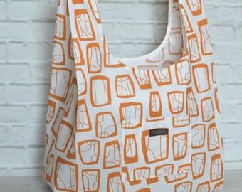 Reusable Grocery Bag Eco Friendly Market Bag Shopping Bag Soba Warm Orange