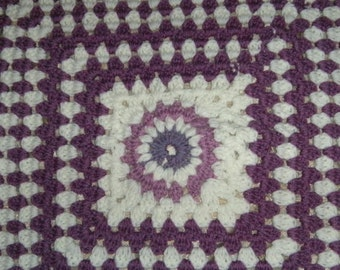 Purple baby blanket with bow