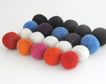 Fabric Laundry Softener 100% Wool Dryer Balls for laundry / Hypo-Allergenic No Chemicals / Hand Felted / READY TO SHIP
