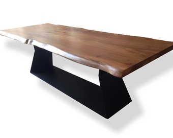 Conference Table - English Elm - Steel Base