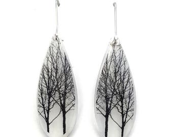 Long Drip Tree Earrings