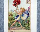 Pansy Alphabet Letter P F...