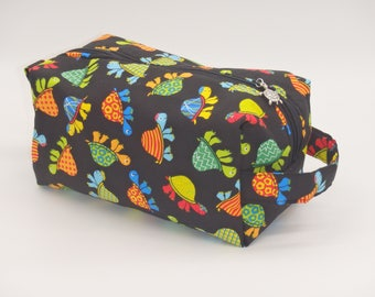 Turtles Travel Bag, Turtle Dopp Kit, Tortoise Pouch, Ditty Bag, Toiletry Kit, Shave Kit, Turtle Gifts, Zip Pouch, Rainbow Turtles