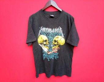 vintage metallica pushead heavy metal music concert large mens t shirt
