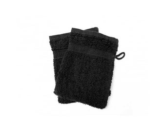 Cotton washcloth Terry ebony black