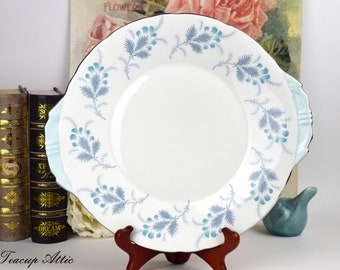 Aynsley Las Palmas Cake Plate English Bone China Cookie Plate Dessert Plate Tea Party ca 1940 : las palmas dinnerware - pezcame.com