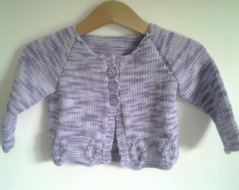 Hand Knitted Cotton Baby Cardigan