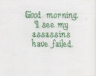 Cross Stitch - Failed Assassin