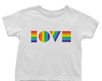 Ready to Ship | Kids Pride Shirt | Rainbow LGBTQ Love Shirt | Toddler Tee | LGBT Shirt Kids | Kids Gay Pride Shirt | Love Is Love Shirt