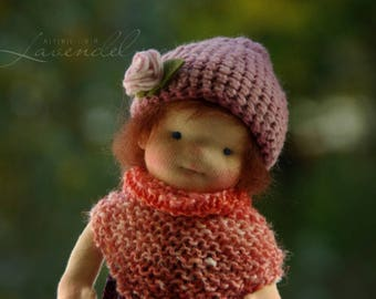 """Edith OOAK Waldorf Inspired Doll by Atelier Lavendel Natural Fibers Doll Cloth Doll 9"""" ECO friendly"""