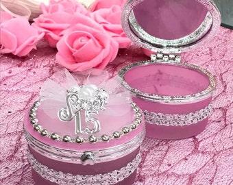 Sweet 15 Trinket Box Favor Keepsake Gift