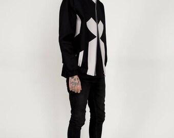 Men's Bomber Baggy Outerwear Sports Grunge Flighy Hipster Sportswear Coat Jacket