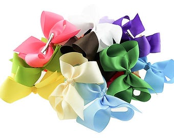 """6"""" Girls Hair Bows / Girls Hair Bows, Toddler Hair Bows, 30 Choose Your Color Hair Bows, Girls Hair Clips, Grosgrain Ribbon Hair Bows, Clips"""