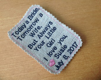 Father of the Bride Tie patch custom personalized