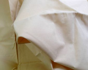 Beige gray cotton fabric, starched stiff fabric, natural fiber, pure cotton, versatile in use, good for dresses