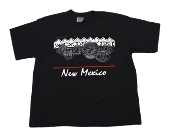 Vintage 1980s 80s Las Cruces New Mexico Shirt Made in USA Mens Retro Clothing Size Large