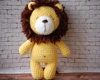 Crochet Toy - Stuffed Animal - Lion Toy - Lion Stuffed Animal - Organic Baby Toys - Lion Plush - Amigurumi Lion -Nursery Decor
