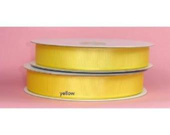 1.5 inch x 25 yds Grosgrain Ribbon  - YELLOW