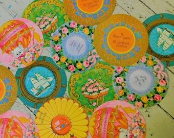 1960-70's, Greeting Cards, Unused, Group of Thirteen, Jumbo Circles