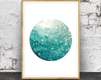 Sea Print, Sea Wall Art, Sea Photography, Sea art, Ocean Print, Ocean Art, Ocean Decor, Sea Decor,  Ocean Water,  Blue Aqua, Ocean Waves