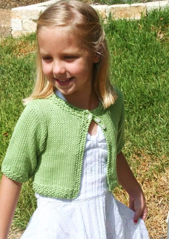 Knitting Pattern Suri Cardigan Sweater Shrug Cropped