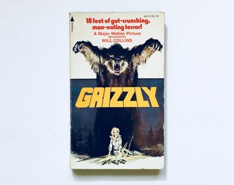 GRIZZLY / Vintage Horror Scary Fiction Paperback Book / Monster Creature / Spine Chilling Terror Novel