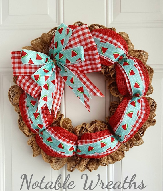 Rustic watermelon wreath