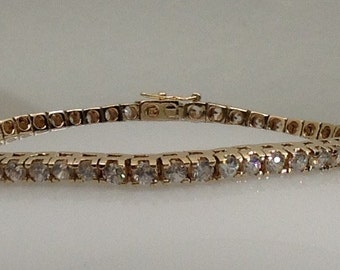 Sterling silver vermeil (gold plated) tennis bracelet