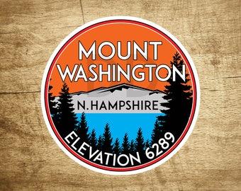 """Mount Washington New Hampshire Decal Sticker Skiing Ski Mountain 3"""" x 3"""""""