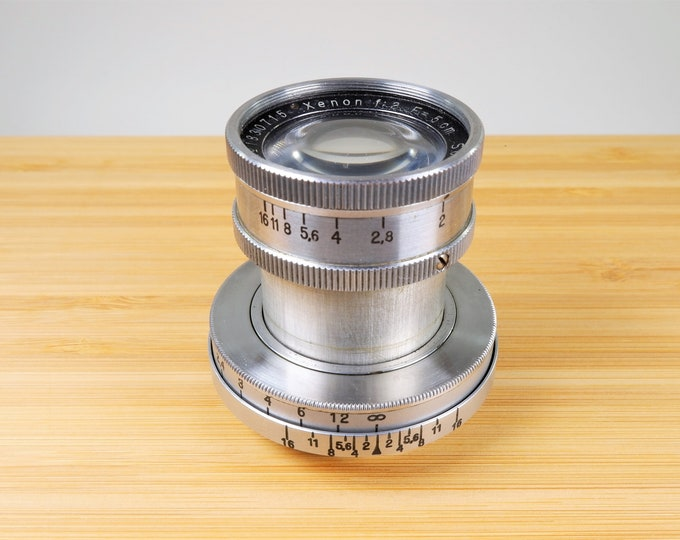 Rare Schneider-Kreuznach Xenon f2 5cm Collapsible Leica LTM Screw Mount Lens - Vintage Germany 1942 - Wartime Lens - Excellent Functionality