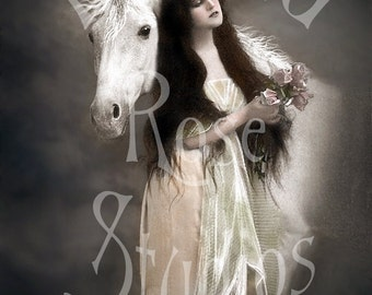 Claire and Salano-Woman and horse-Digital Image Download